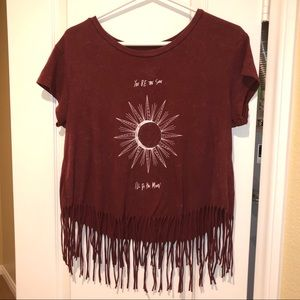 🌞AE You Be the Sun, I'll Be the Moon Fringe Tee